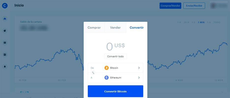 Hacer trading en Coinbase es muy facil