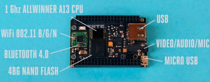 Es más barato, más pequeño y más potente que el Raspberry Pi, puede ejecutar cualquier aplicación basada en Linux
