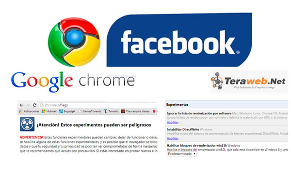 chrome facebook y acentos