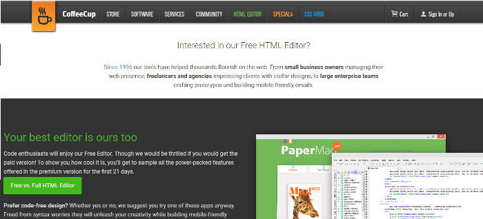 editores HTML gratuitos para Windows