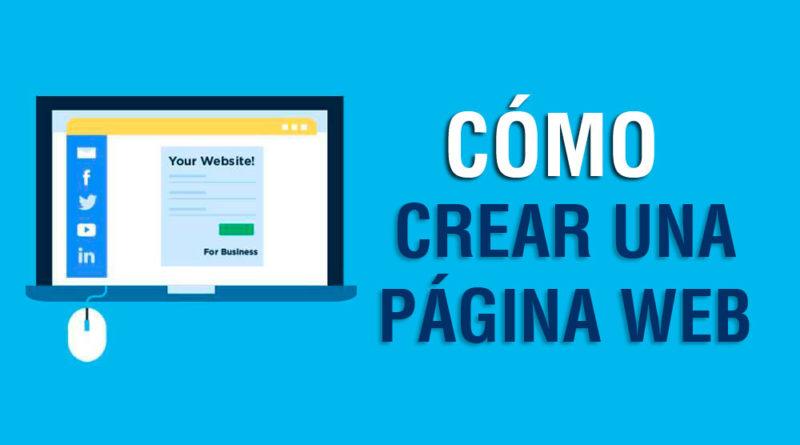 Cómo crear una pagina web