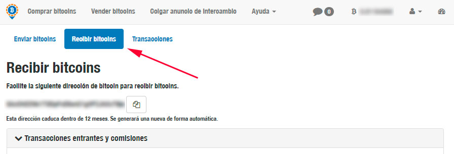 Recibir Bitcoins en Localbitcoins