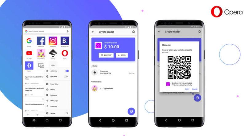 El navegador web de Opera ahora con monedero digital incorporado