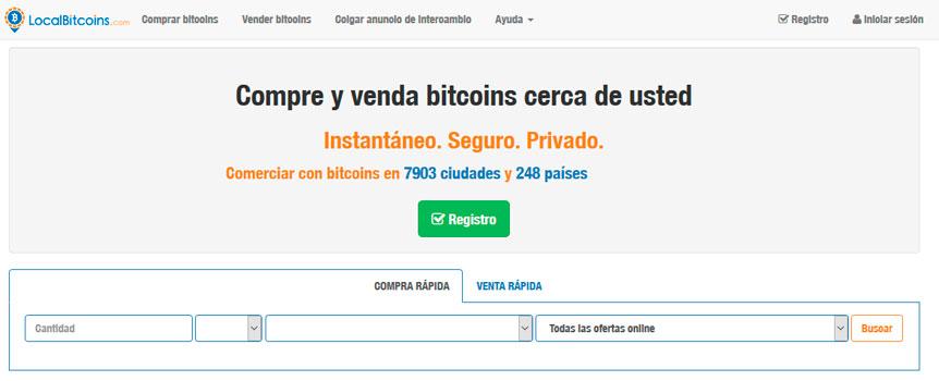 Vender BItcoin en minutos en Localbitcoins